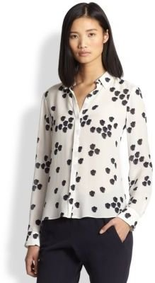 A.L.C. Song Silk Printed Blouse