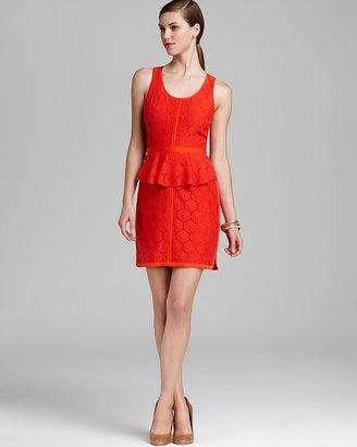 Ali Ro Lace Peplum Dress - Sleeveless
