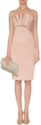 Notte by Marchesa Blush Silk-Crepe Embellished Strapless Dress
