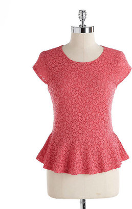 Vince Camuto Lace Peplum Top