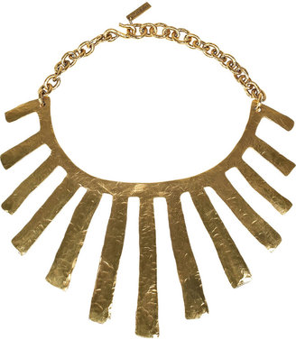 Yves Saint Laurent Fringes gold-plated necklace