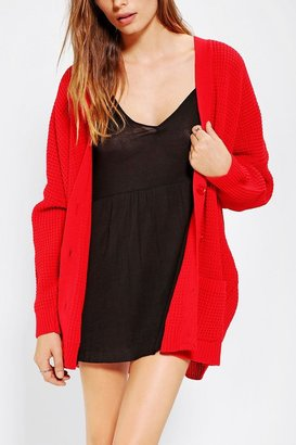 Urban Outfitters Coincidence & Chance Waffle-Knit Cardigan