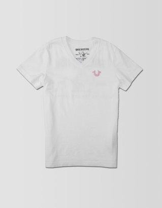True Religion Logo Vneck Girls Tee