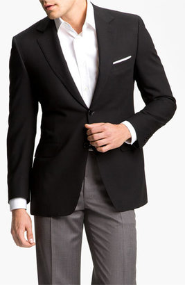 Men's Canali Classic Fit Solid Wool Blazer $1,395 thestylecure.com