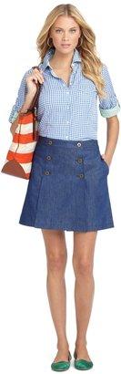 Brooks Brothers High Waisted Denim Skirt