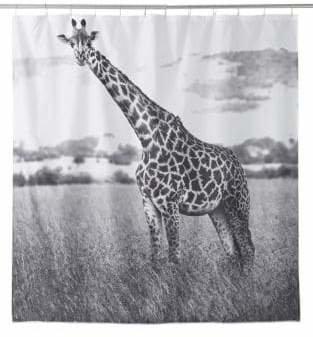 Famous Home Fashions Nairobi Giraffe Shower Curtain