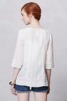 Anthropologie Henley Peasant Top