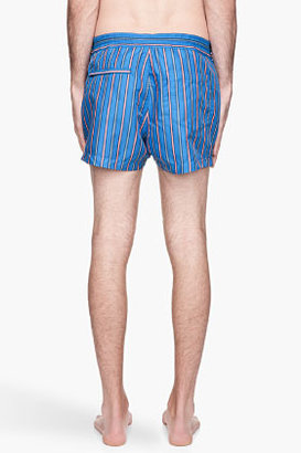 Marc by Marc Jacobs Vivid blue and cora lstriped Simon Swim shorts
