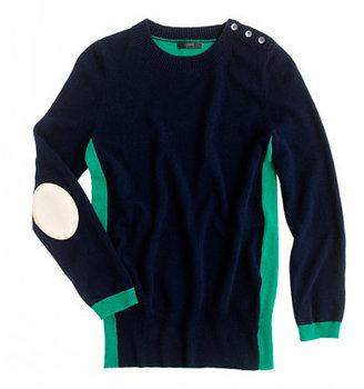 J.Crew Dream colorblock elbow-patch sweater