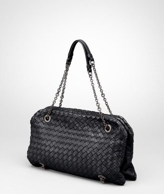 Bottega Veneta Nero intrecciato nappa duo bag