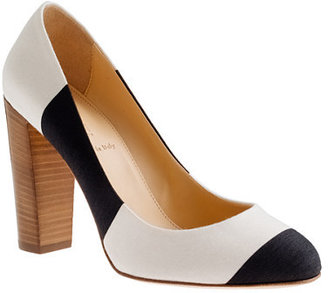 J.Crew Etta canvas stripe pumps