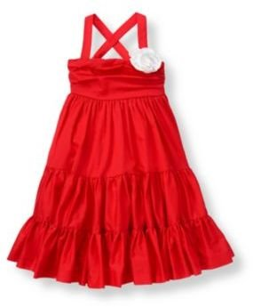 Janie and Jack Flower Corsage Tiered Dress