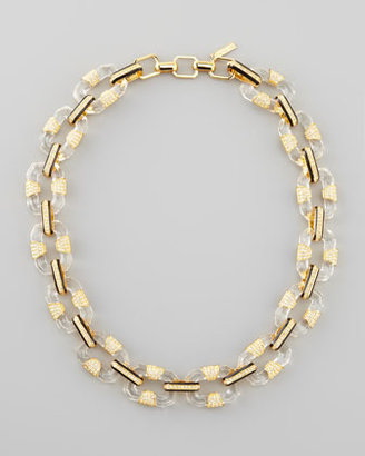 Rachel Zoe Lucite-Link Necklace