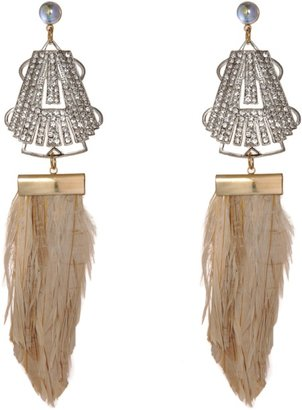 Fenton Crystal Sagamore Duster & Feather Earrings Sale up to 60% off at Barneyswarehouse.com