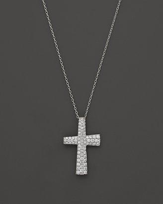 """Roberto Coin Scalare Diamond Cross Pendant in 18K White Gold, .5 ct. t.w., 18"""""""