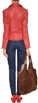 Mother The Looker Ankle Zip Jeans in Smooth Moves