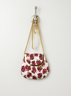 Moschino Floral Leather Quilted Crossbody Bag