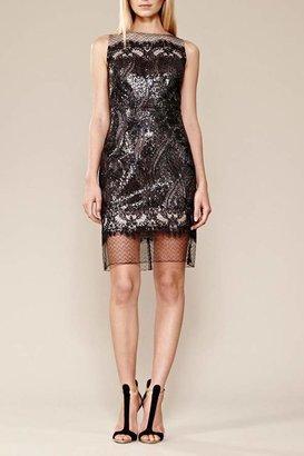 Julia Jordan Sequin Mesh Dress $225 thestylecure.com