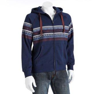 Generra striped fleece hoodie - men