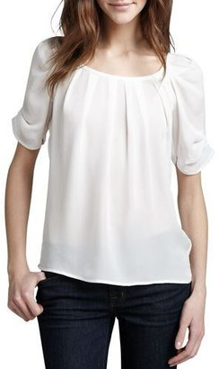 Joie Eleanor Silk Blouse $198 thestylecure.com