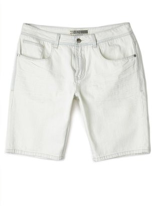 21men 21 MEN Bleached Denim Shorts