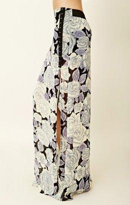 Blu Moon Eyelet Slit Skirt