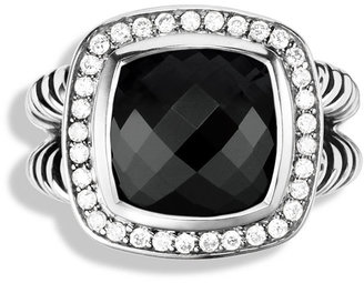 David Yurman Albion Ring with Black Onyx and Diamonds