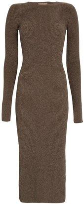 Andamane Etta Split Cuff Knit Midi Dress