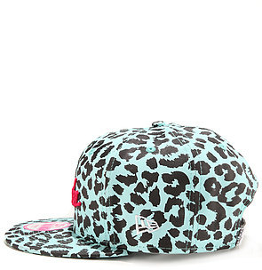 Crooks & Castles Crooks and Castles The Stadium Crooks Snapback Cap in Tiffany Black Cheetah