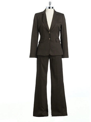 Tahari ARTHUR S. LEVINE Birdseye Two-Piece Pants Suit