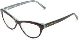 Kate Spade Abena Abena Cat Eye Reading Glasses,Dark Tortoise/Ocean 2.0,52 mm