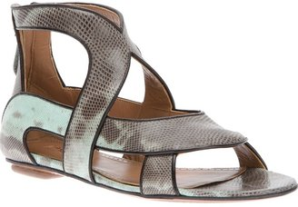 Alaia interwoven strappy sandal