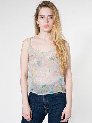 American Apparel Printed Silk Camisole
