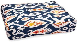Ikat Dog Bed, Navy/White