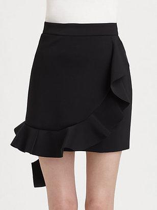 J.W.Anderson Neoprene Ruffle Skirt