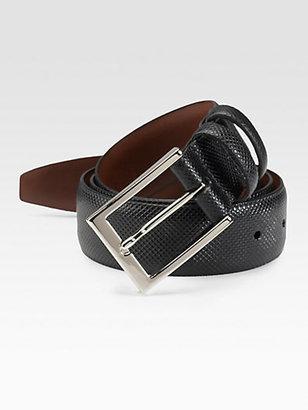 Saks Fifth Avenue Collection Deertan Glove Leather Belt/Black