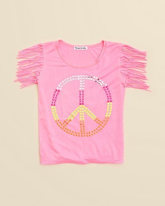 Flowers by Zoe Toddler Girls' Fringe Peace Tee - Sizes 2T-4T