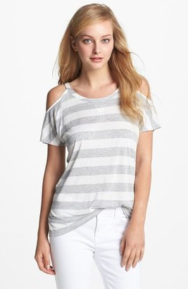 Vince Camuto Two by Stripe Cold Shoulder Tee