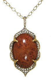 Cathy Waterman Fallen Redwood Arabesque Frame Locket - 22 Karat Gold