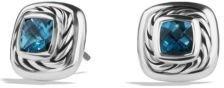 David Yurman Cable Classics Earrings with Blue Topaz