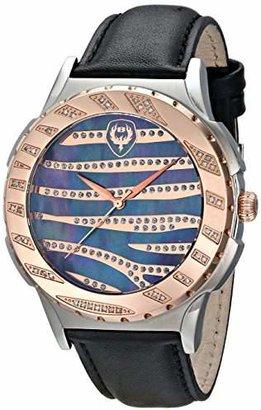 Brillier Unisex 12-04 Analog Display Swiss Quartz Black Watch