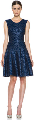 Issa Foil Printed Viscose-Blend Dress in Midnight
