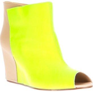 Maison Martin Margiela two-tone peep toe wedge ankle boot