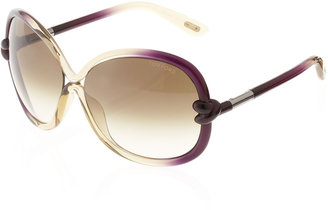 Tom Ford FT0185 Sunglasses, Purple/LightGreen