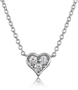Forzieri 0.31 ct Diamond Heart Pendant Necklace