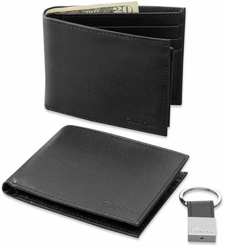 Calvin Klein Leather Bookfold Wallet and Key Fob Set $48 thestylecure.com