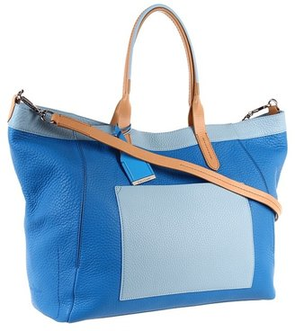 Cole Haan Crosby Colorblock Shopper (Blue Topaz/Reservoir) - Bags and Luggage