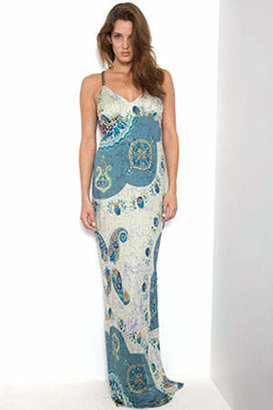 Yigal Azrouel Printed Silk Multi Gown