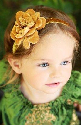 PLH Bows & Laces Rose Headband (Baby Girls & Toddler Girls)