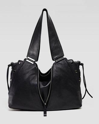 Kooba Kiera Leather Satchel Shoulder Bag, Black